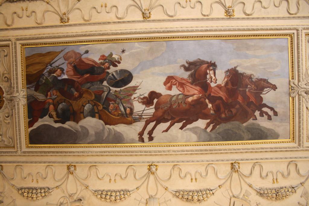 Albrecht z Valdštejna - nástropní malba ve Valdštejnském paláci