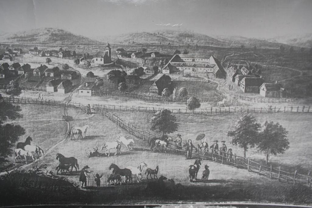 Jeden z nejstarších pohledů na Selmice